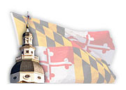 MD flag, state capitol